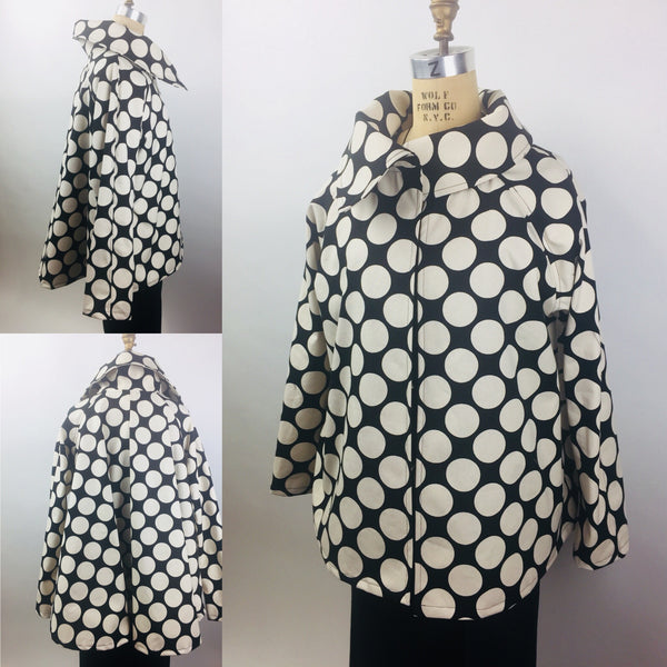 Polka Dot Swing Jacket