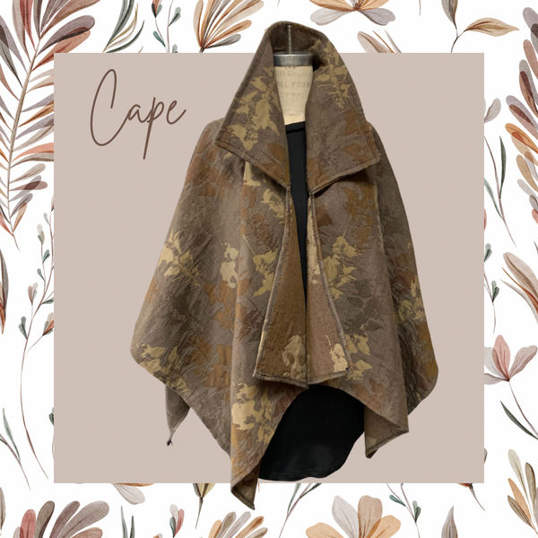 Tapestry Cape w/ Collar