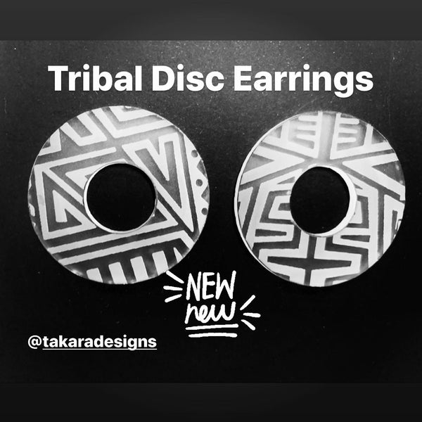 Disc Plug Earrings