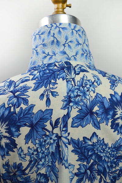 Pleats in Blue Floral