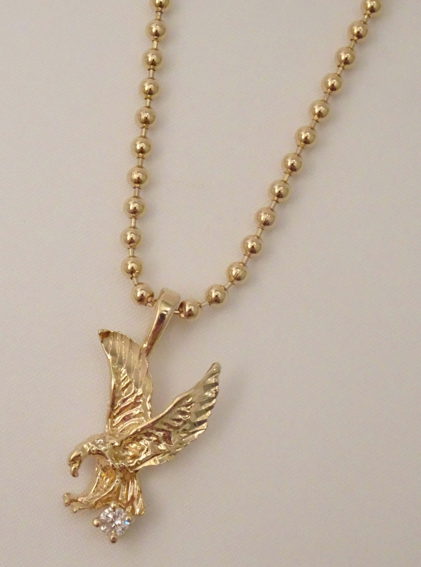 eagle necklace, gold eagle necklace, gold eagle pendant, eagle jewelry, american jewelry, biker jewelry