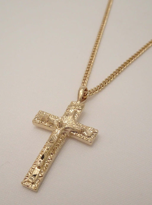 crucifix necklace, mens crucifix necklace, gold crucifix necklace, men cross necklace, mens cross necklace, cross necklace for women, cross pendant necklace, Jesus cross necklace, religious necklace, gold cross necklace with Jesus, biker jewelry