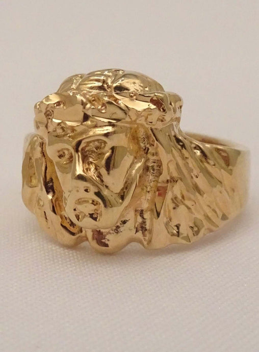 Jesus ring, Jesus ring gold, Jesus rings for men, Jesus head ring, Jesus face ring, christian rings, mens christian rings, faith ring, religious rings, mens biker rings, ring for boyfriend, crown of thorns ring, biker jewelry
