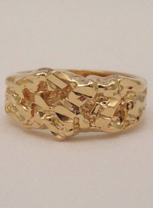 Gold nugget Ring, women's gold nugget ring, nugget ring