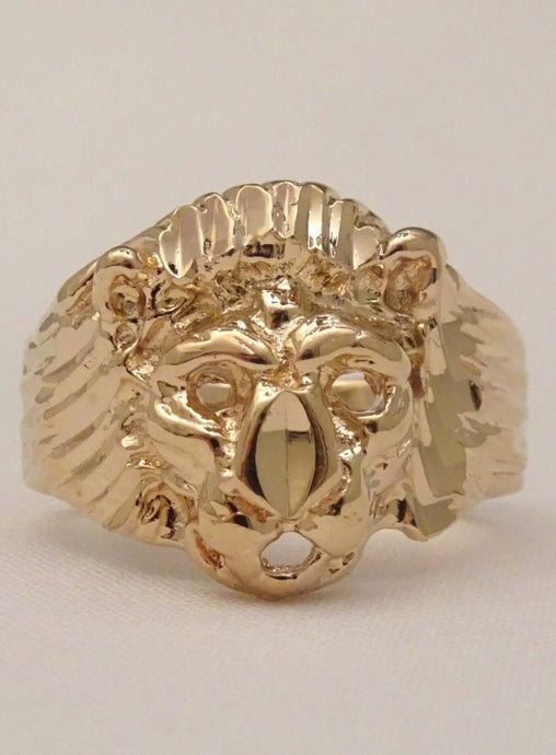 lion ring, gold lion ring, lion ring for men, lion head ring