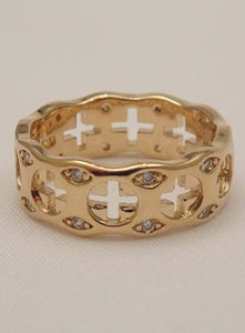 cross ring, mens cross ring, christian rings, gold cross ring, cross rings for women, sideways cross ring, religious rings, men's religious rings