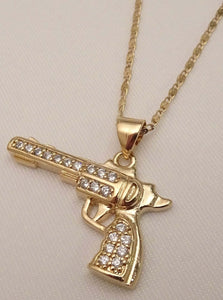 gun necklace, gold gun necklace, men necklaces, guy necklaces, cool necklaces for men, cool necklaces for guys, necklace for him, biker jewelry, american jewelry