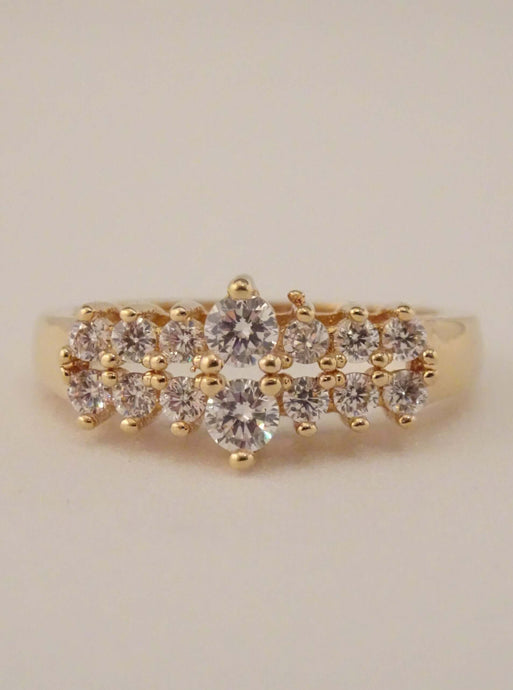 cubic zirconia ring, crystal ring, dainty ring