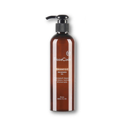 FicceCode Shampoo with Organic Macadamia Oil 260ml