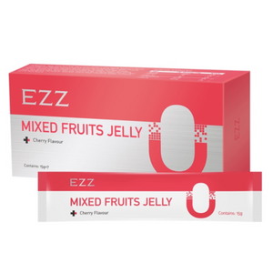 EZZ Mixed Fruits Jelly Cherry Flavour 15g*7 Sachets