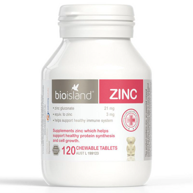 Bio Island Zinc 120 Chewable Tablets