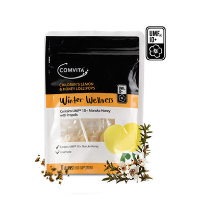 Comvita Children's Lemon and Honey Lollipops Winter Wellness For The Little Ones