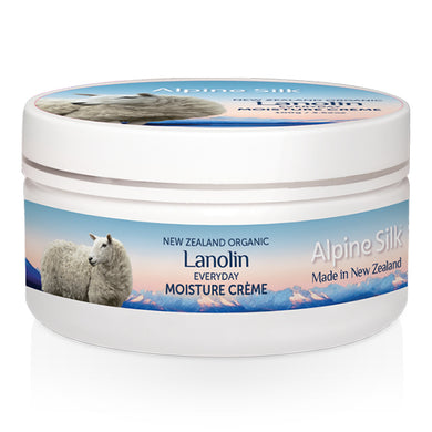 Alpine Silk Organic Lanolin Everyday Moisture Crème Enriched with New Zealand Certified Organic Lanolin & Vitamin E