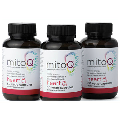 New Zealand MitoQ Heart Cardiovascular Support CoQ10 60 Capsules  (3 Packs)