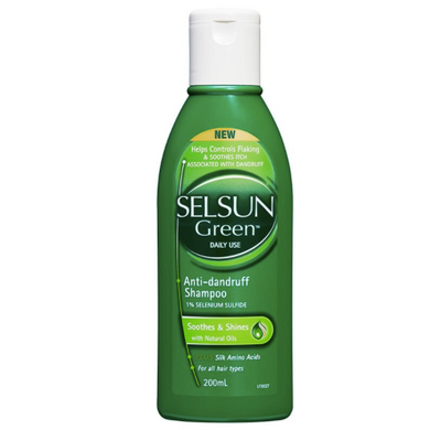 Selsun Green Dandruff Soothes & Shines With Natural Oils Shampoo 200ml