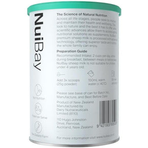 New Zealand Nuibay Pure Sheep Whole Milk Powder 400g