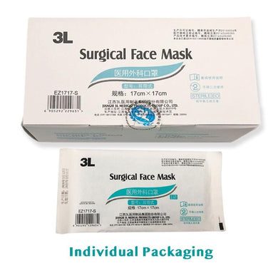 20 Pack Disposable Surgical Medical Face Masks ear-loops 3-ply