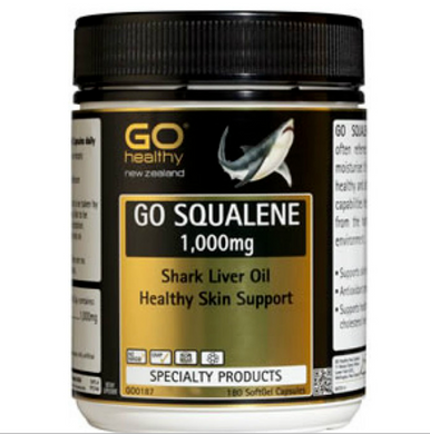 New Zealand Go Healthy Go Squalene 1000mg Shark Liver Oil 180 Capsules