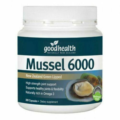 Good Health New Zealand Green Lipped Mussel 6000 (300 Caps) Joint Support