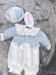 Boys christening romper.      254