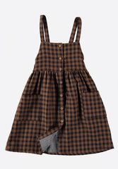 Laura Buttoned Dungaree Dress