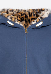 Full Zip Sweater Leopard