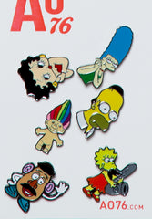 AO76 Simpsons Pins