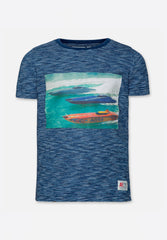 T-Shirt Stripe Boats