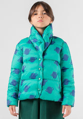 All Over Big Saturn Padded Jacket