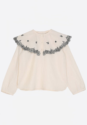 Blouse Cape Ivory P046
