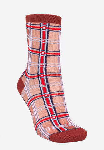 Dagmar Multi Check Socks