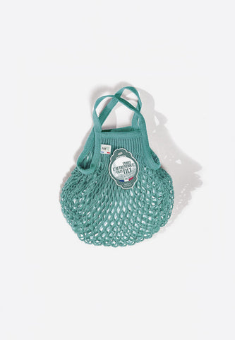 Net Shopping Bag Aquablue