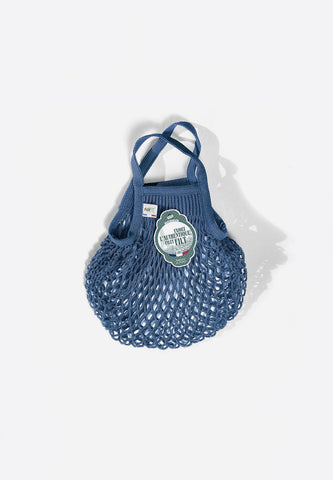Net Shopping Bag Bleu Jean