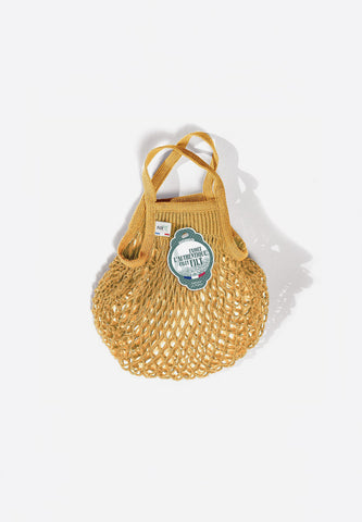 Net Shopping Bag Gold
