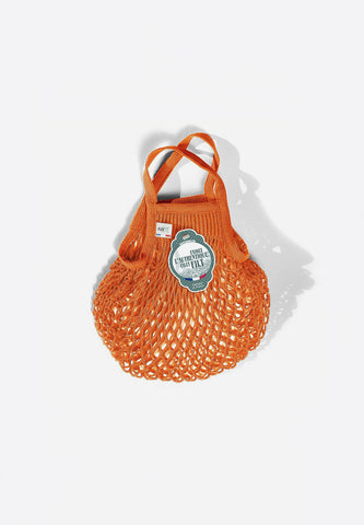 Net Shopping Bag Orange Azteque