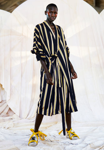 Whirl Coat Black Multi Stripes