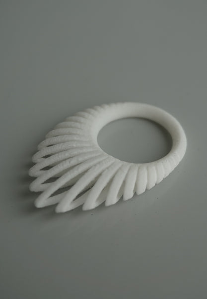 3D Printed Ring Hollow Leaf