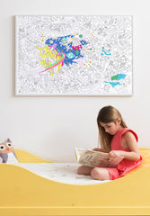 Giant Coloring Poster Cosmos