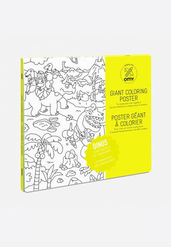 Giant Coloring Poster Dinos