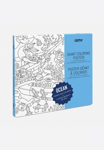 Giant Coloring Poster Ocean