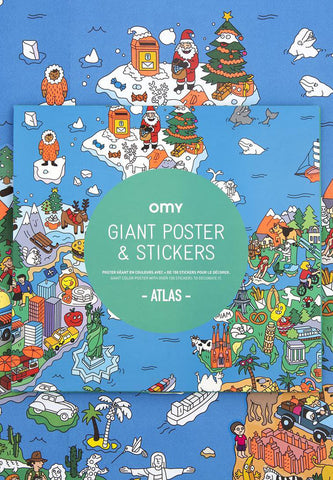 Giant Poster & Stickers Atlas