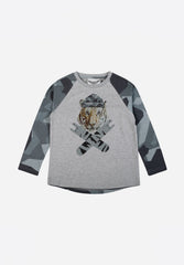 Long Sleeve Raglan T-Shirt Rock On