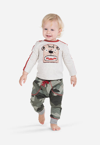 Patch Pocket Trackies Camo Green