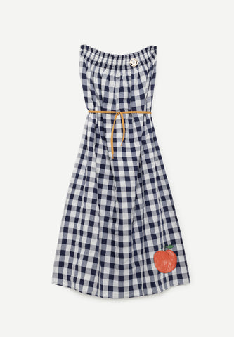 Dolphin Kids Dress Navy Blue Peach