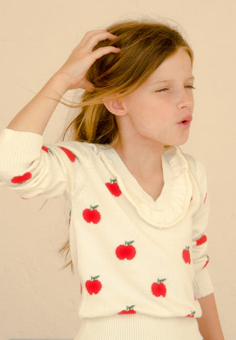 Horsefly Kids Sweater Apple