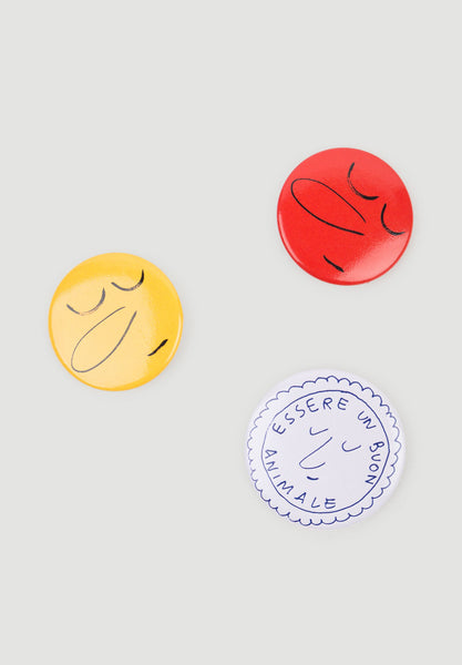 Button Badges Sunny Yellow