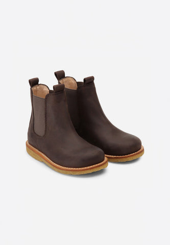 Narrow Chelsea Boot Grey Brown