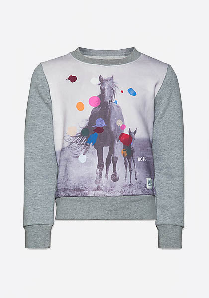 C-Neck Sweater Horses