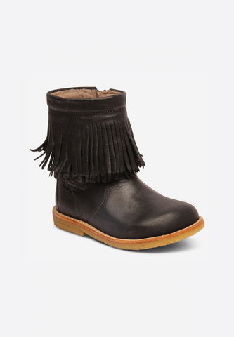 Tex Boot Fringe Black