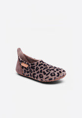 Home Shoe Wool Basic Brown-Leopard